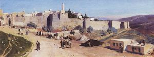 Vasily Dmitrievich Polenov - Jerusalem from the west. Jaffa Gate and the Citadel.