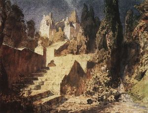 Vasily Dmitrievich Polenov - Stairway to Castle
