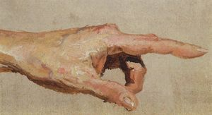 Vasily Dmitrievich Polenov - Left hand with the index finger