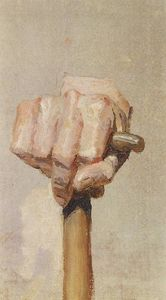 Vasily Dmitrievich Polenov - Right hand, keeping the staff