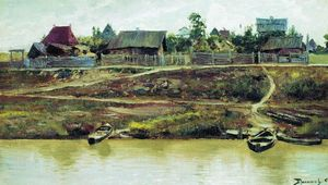 Vasily Dmitrievich Polenov - A settlement near Volga