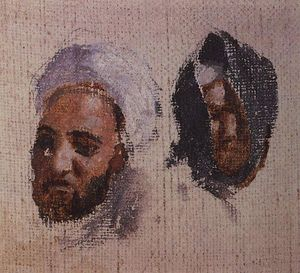 Vasily Dmitrievich Polenov - The two men's heads in turbans