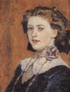 Vasili Ivanovich Surikov - Portrait of young woman