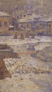 Vasili Ivanovich Surikov - Square in front of the Museum of Fine Arts in Moscow