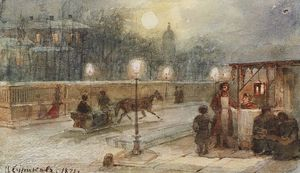 Vasili Ivanovich Surikov - Evening in Petersburg