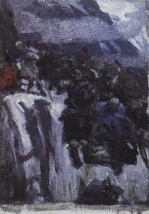 Vasili Ivanovich Surikov - Russian Troops under Suvorov Crossing the Alps (study)