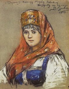 Vasili Ivanovich Surikov - Portrait of young lady