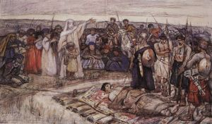 Vasili Ivanovich Surikov - Princess Olga meets the body of Prince Igor