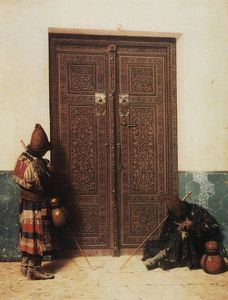 Vasily Vasilevich Vereshchagin - At the Door of a Mosque
