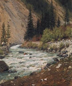 Vasily Vasilevich Vereshchagin - Mountain stream in Kashmir