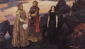 Victor Vasnetsov - Three princess of the Underworld