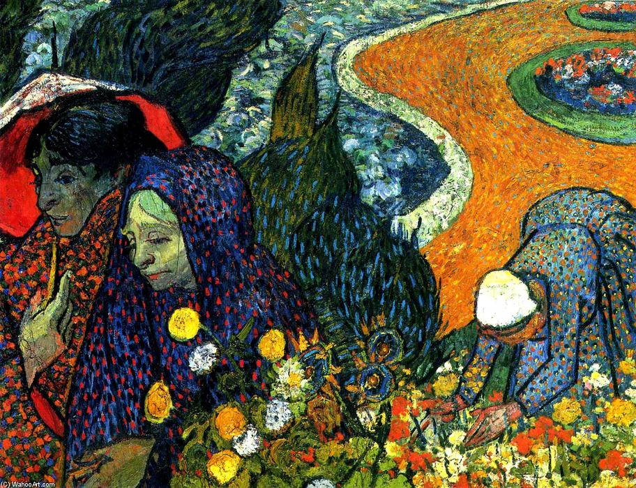 Ladies of Arles (Memories of the Garden at Etten), Oil On Canvas by Vincent Van Gogh (1853-1890, Netherlands)