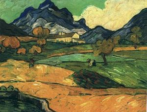 Vincent Van Gogh - Mount Gaussier with the Mas de Saint-Paul