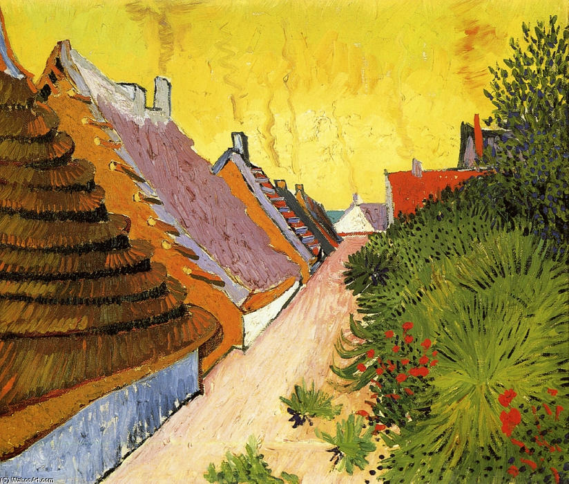 Street in Saintes-Maries, Oil On Canvas by Vincent Van Gogh (1853-1890, Netherlands)