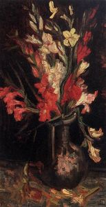 Vincent Van Gogh - Vase with Red Gladioli