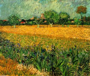 Vincent Van Gogh - View of Arles with Irises in the Foreground