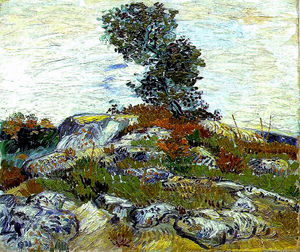 Vincent Van Gogh - The Rocks with Oak tree