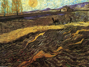 Vincent Van Gogh - Enclosed Field with Ploughman