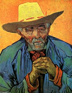 Vincent Van Gogh - Portrait of Patience Escalier - (Famous paintings reproduction)