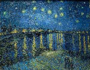Buy Museum Art Reproductions | Starry Night Over the Rhone, 1888 by Vincent Van Gogh (1853-1890, Netherlands) | WahooArt.com