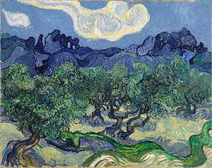 Vincent Van Gogh - The Alpilles with Olive Trees in the Foreground