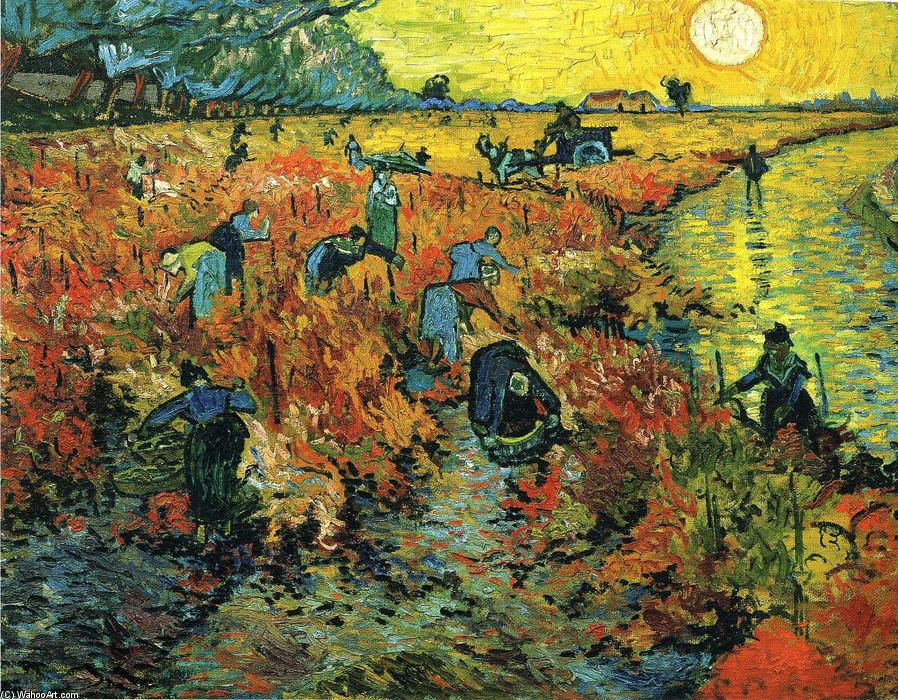 Red Vineyards at Arles, Oil On Canvas by Vincent Van Gogh (1853-1890, Netherlands)