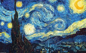 Vincent Van Gogh - The Starry Night - (oil painting reproductions)