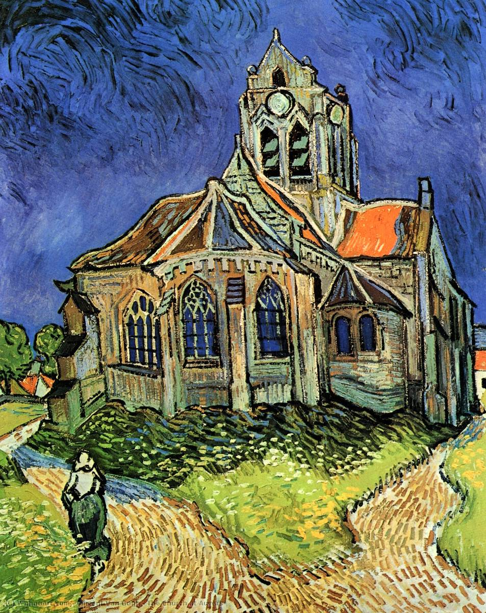 The Church at Auvers, Oil On Canvas by Vincent Van Gogh (1853-1890, Netherlands)