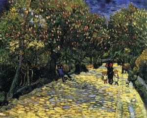 Vincent Van Gogh - Avenue with Flowering Chestnut Trees at Arles