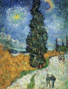 Vincent Van Gogh - Road with Cypresses