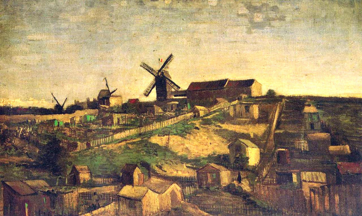 Montmartre the Quarry and Windmills, Oil On Canvas by Vincent Van Gogh (1853-1890, Netherlands)