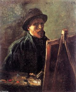 Vincent Van Gogh - Self-Portrait with Dark Felt Hat at the Easel