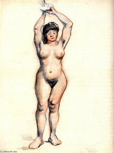 Vincent Van Gogh - Standing Female Nude Seen from the Front
