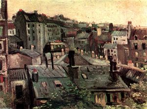 Vincent Van Gogh - View of Roofs and Backs of Houses