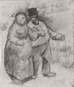 Vincent Van Gogh - Walking Couple