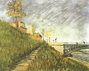 Vincent Van Gogh - Banks of the Seine near Pont de Clichy