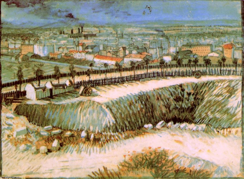 Order Reproductions | Outskirts of Paris near Montmartre, 1887 by Vincent Van Gogh (1853-1890, Netherlands) | WahooArt.com