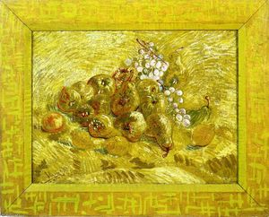 Vincent Van Gogh - Still life with grapes,pears and lemons