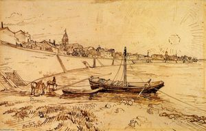 Vincent Van Gogh - Bank of the Rhone at Arles