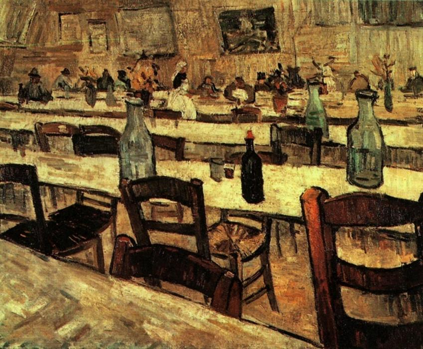 Interior of a Restaurant in Arles, Oil On Canvas by Vincent Van Gogh (1853-1890, Netherlands)