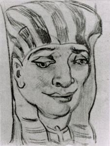 Vincent Van Gogh - Mask of an Egyptian Mummy 4