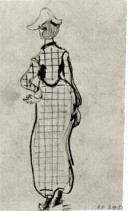 Vincent Van Gogh - Lady with Checked Dress and Hat