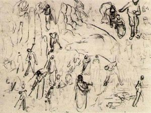 Vincent Van Gogh - Sheet with Figures and Hands