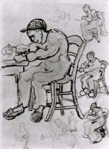 Vincent Van Gogh - Sheet with People Sitting on Chairs
