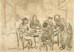 Vincent Van Gogh - Sketch of the Painting ''The Potato Eaters''