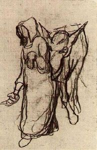 Vincent Van Gogh - Woman with a Donkey