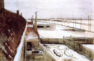 Vincent Van Gogh - View from the Window of Vincent's Studio in Winter