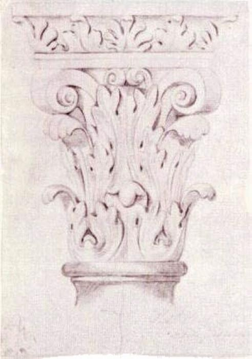 Corinthian Capital, 1863 by Vincent Van Gogh (1853-1890, Netherlands) | Paintings Reproductions Vincent Van Gogh | WahooArt.com