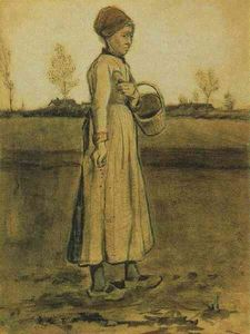 Vincent Van Gogh - Peasant Woman Sowing with a Basket