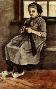 Vincent Van Gogh - Woman Mending Stockings